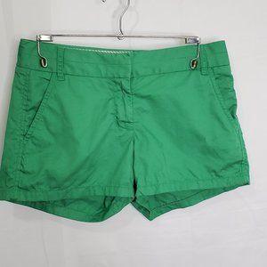 J Crew Broken In Green Chino Shorts Size 0